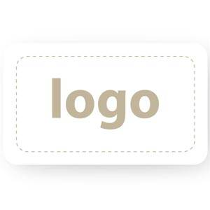 Adhesive Logo Label 005 - Rectangle, round corners