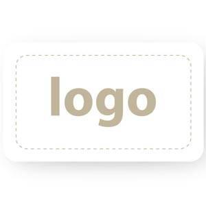 Firkantet klistermærke med logotryk - 005 Mat hvid label trykt med dit eget logo 32 x 19
