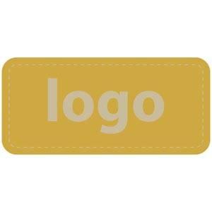 Firkantet klistermærke med logotryk - 006 Mat guld label trykt med dit eget logo 30 x 14