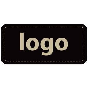 Firkantet klistermærke med logotryk - 006 Mat sort label trykt med dit eget logo 30 x 14