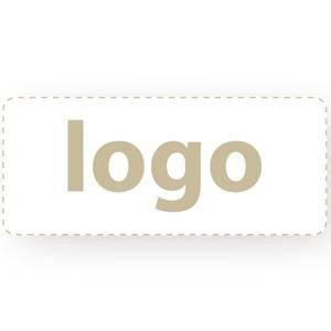 Firkantet klistermærke med logotryk - 006 Mat hvid label trykt med dit eget logo 30 x 14