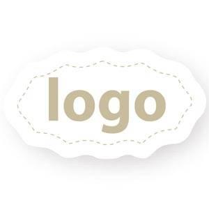 Adhesive Logo Label 009 - Oval, scalloped edge