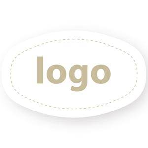 Adhesive Logo Label 010 - Oval, with blunted side