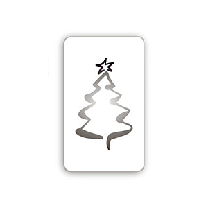 Pre-printed adhesive label with Christmas Tree Transparent Sticker with Custom Logo Print 32 x 19