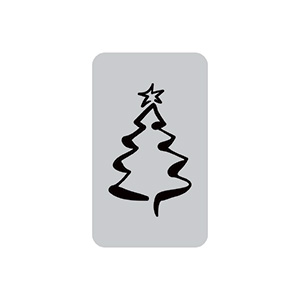 Pre-printed adhesive label with Christmas Tree