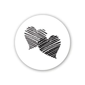 Seglmærke Rund: Hjerter