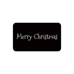 Etykieta - prostokątna: Merry Christmas