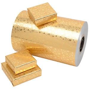 Gavepapir 1740 - Guld med guld mønster