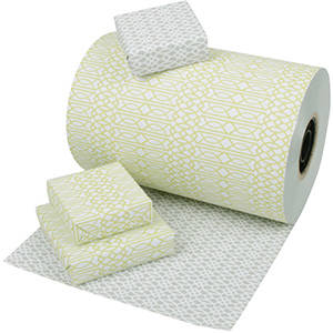 Wrapping Paper 6760 - Double-sided Lime/Grey
