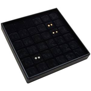 Medium tray for 36 pairs of earrings