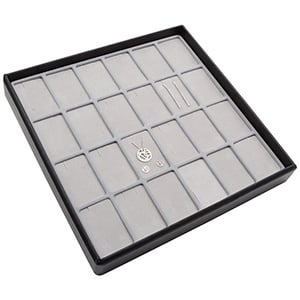 Medium tray for 24x jewellery set, vertical