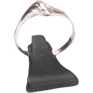 Ringholder, lille Sort nappa kunstskind 25 x 15