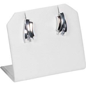Display til ørestikker Hvid nappa kunstskind 45 x 40