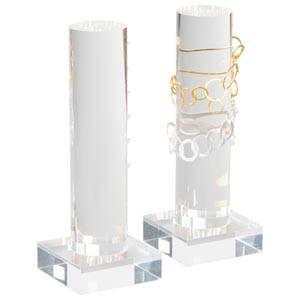 Présentoir à bijoux vertical pour bracelets Plexi transparent 220 x 80 x 80