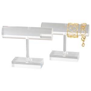 Display Armband T-form Transparent acryl 200 x 155