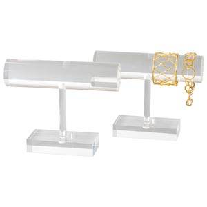 Display til armringe, T-form Transparent akryl 200 x 155