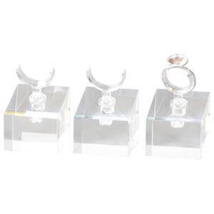 Display met klem voor 1 ring, klein