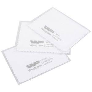 Polishing Cloth with 1 Logo in one colour White, without Impregnation 80 x 120
