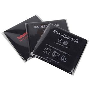 Lens Cleaning Cloths, with Logo Print in 1 Colour Black 300 x 350