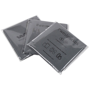 Lens Cleaning Cloths, with Logo Print in 1 Colour Dark Grey 300 x 350