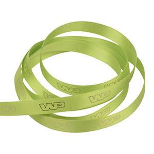 Ruban satin personalisé, sérigrafie effet 3D Vert lime  9 mm x 91,4 m