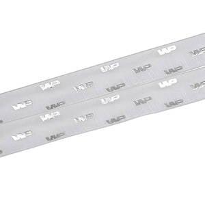 Organzabånd med hævet tryk Lys grå  25 mm x 45,7 m