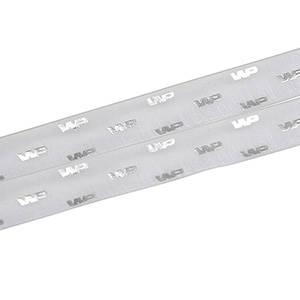 Organza band med upphöjt tryck Ljusgrå  25 mm x 45,7 m