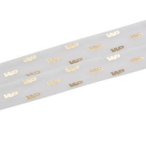 Organza band med upphöjt tryck Vit  25 mm x 45,7 m