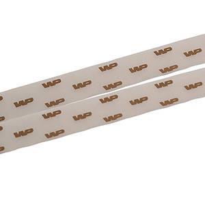 Wstążka z organdyny, wypukły nadruk Kolor brązowy  25 mm x 45,7 m