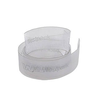 Organza ribbon with smooth print