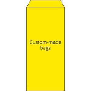 Torebka reparacyjna nadruk według projektu klienta Żółta torebka z czarnym nadrukiem 110 x 240