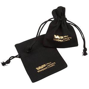 Hørpose, mini Sort 70 x 90