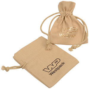 Linen Pouch, mini Natural Linen 70 x 90