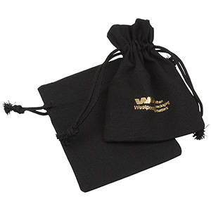 Linen Pouch, Small Black 90 x 120