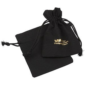 Linen Pouch, Small Black 90 x 120