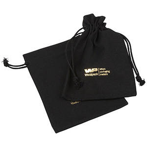 Linen Pouch, Medium Black 120 x 170