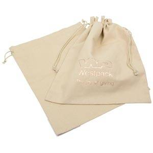 Linen Pouch, XL Natural Linen 250 x 350