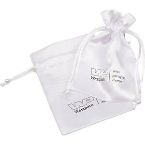 Satin Pouch with  Branding on Pouch, Small