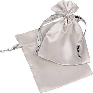 Satin Pouch with Branded Drawstring, Medium