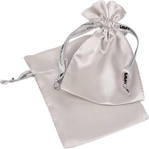Satinpose med logotryk på bånd, medium
