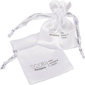 Satin Pouch, Branded on Pouch & Drawstring, Mini