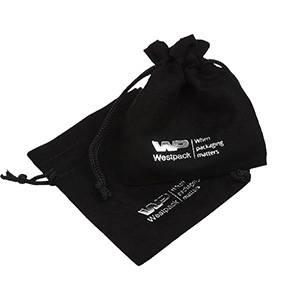 Imiteret ruskindspose, liten Svart 75 x 90