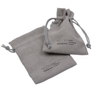 Suede pouch (imitation), medium