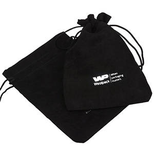 Suede pouch (imitation), large