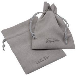 Suede pouch (imitation), large