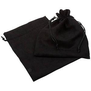 Bourse suédine à lacet assorti, XL Noir 180 x 240