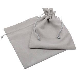 Imiteret ruskindspose, XL Ljus grå 180 x 240