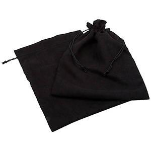 Bourse suédine à lacet assorti, XXL Noir 250 x 350