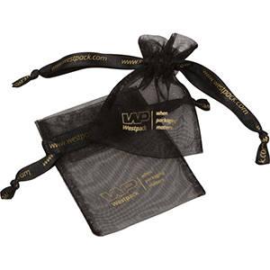 Grootverpakking Mini Organzazakje, met 2x logo
