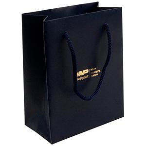 Matt carrier bag with handle, small Dark blue paper 146 x 114 x 63